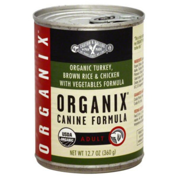 Castor & Pollux Organix Adult Dog Food Turkey & Vegetable Formula