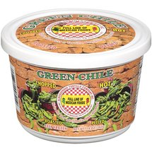 Albuquerque Tortilla Co. Inc. Hot Chopped Roasted & Peeled Green Chile Peppers