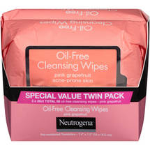 Neutrogena Pink Grapefruit Acne-Prone Skin Oil-Free Cleansing Wipes
