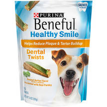 Purina Beneful Healthy Smile Dental Dog Snacks Twists Small/Med Treats