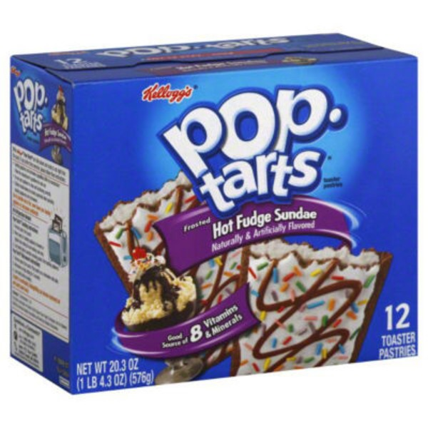 Kellogg's Pop-Tarts Frosted Hot Fudge Sundae Toaster Pastries