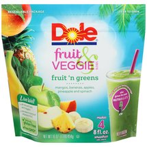 Dole Fruit & Veggie Blends Fruit 'n Greens Smoothies