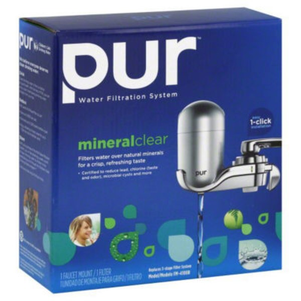 Pur Mineral Clear Chrome Faucet Mount Water Filtration System
