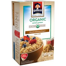 Quaker Select Starts Maple & Brown Sugar Organic Instant Oatmeal
