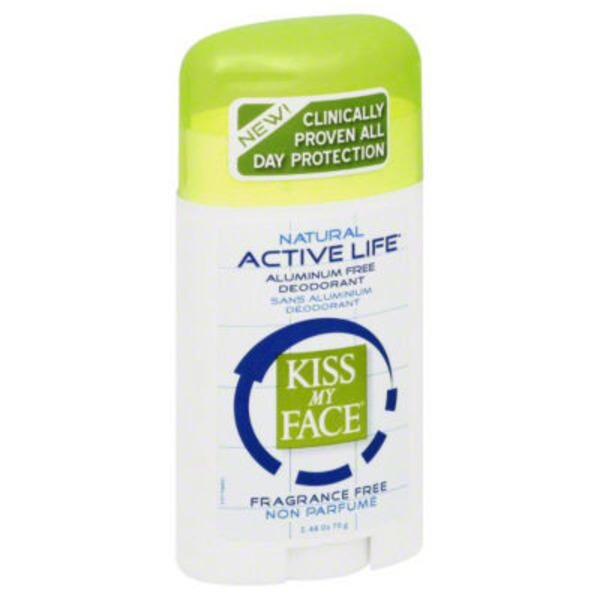 Kiss My Face Fragrance Free Active Life Deodorant
