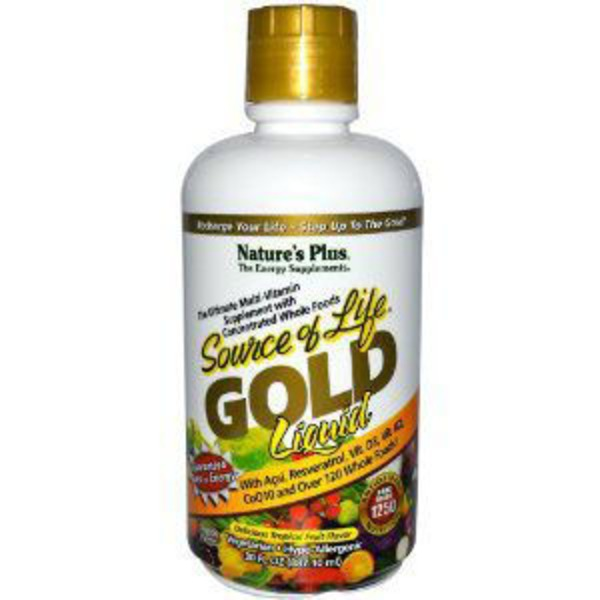 Nature's Plus Source Of Life Gold Liquid Multi Vitamin Supplement