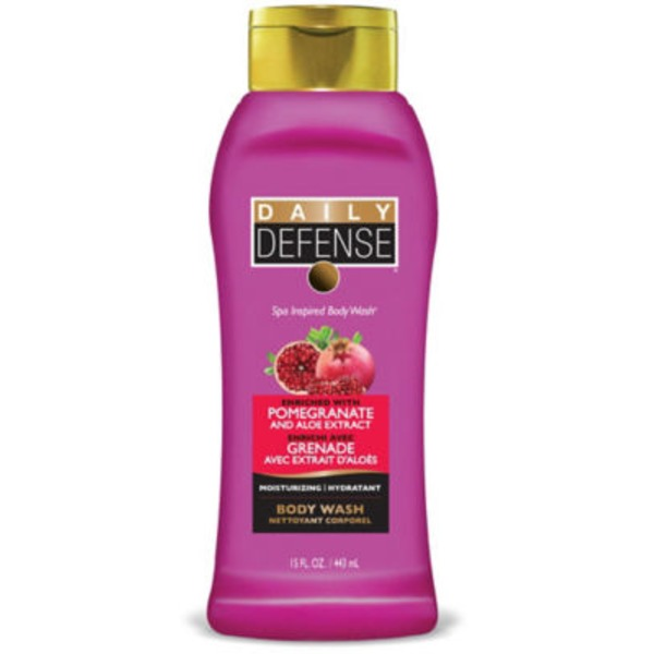 Daily Defense Pomegranate and Aloe Extract Body Wash & Shower Gel