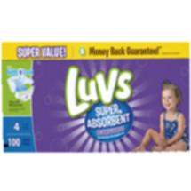 Luvs Leakguards Super Absorbent Diapers Super Pack Size 4