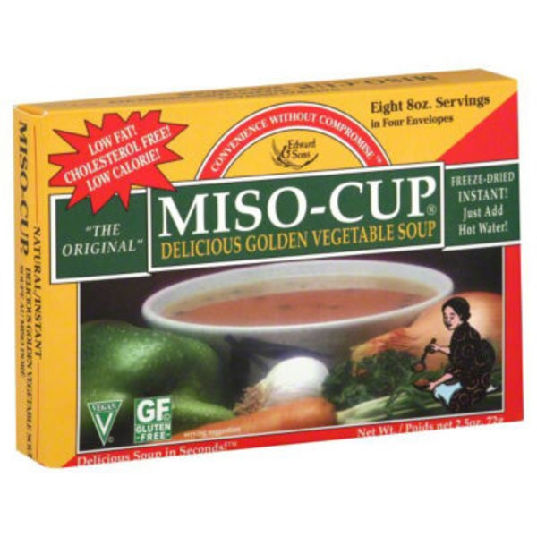 Edward & Sons Edward & Sons Miso-Cup Delicious Golden Vegetable Soup - 4 CT