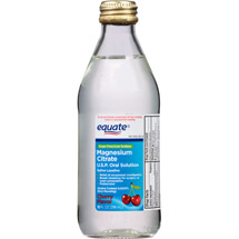 Equate Cherry Flavor Magnesium Citrate Oral Solution Saline Laxative