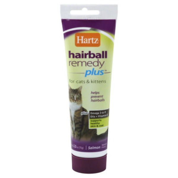 Hartz Hairball Remedy, Plus, for Cats & Kittens, Salmon