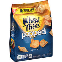 Nabisco Wheat Thins Popped Sea Salt Popped Chips