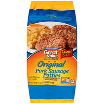 Great Value Fully Cooked Original Pork Sausage Patties