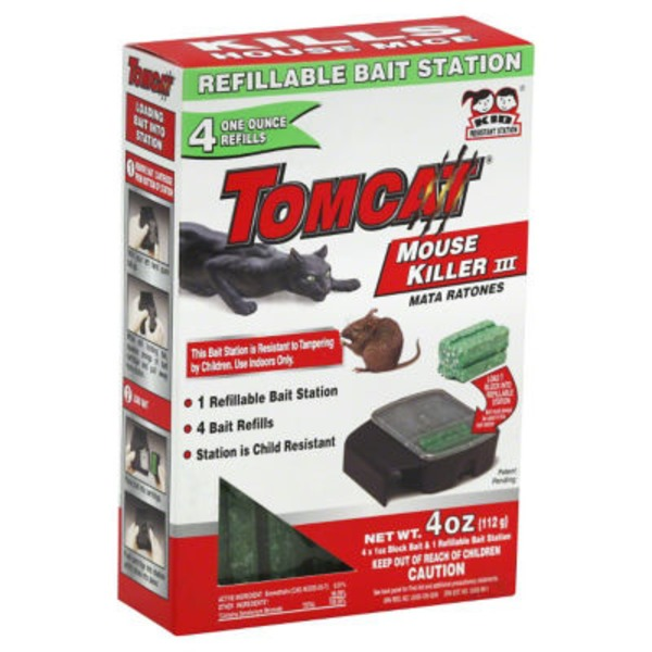 Tomcat Refillable Mouse Killer III Bait Station