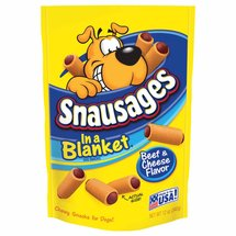 Snausages Beef & Cheese In A Blanket Dog Snacks