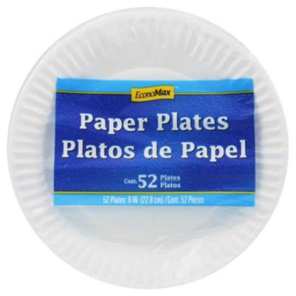 Economax 9 Inch Polypropylene Paper Plates