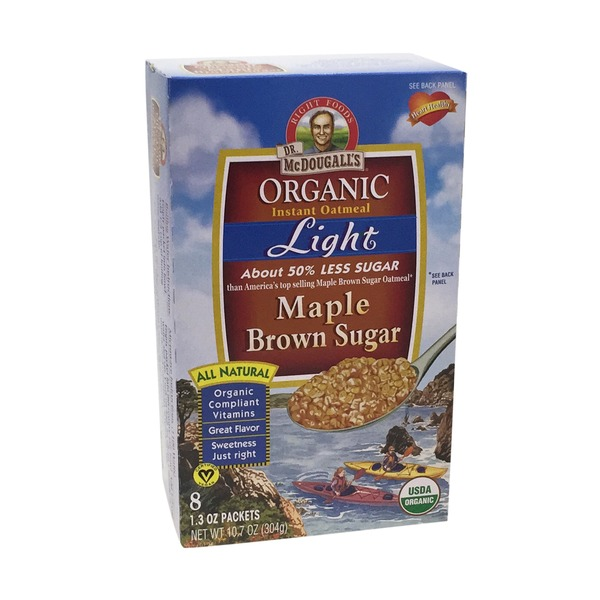 Dr. McDougall's Organic Instant Oatmeal Light Maple Brown Sugar