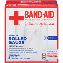 Band-Aid Brand Medium Rolled Gauze Rolls