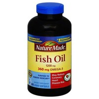Nature Made Fish Oil 1200mg/360mg Omega-3 Dietary Supplement Softgels - 300 CT