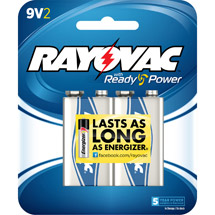 Rayovac Alkaline Multi-Pack 9V Batteries