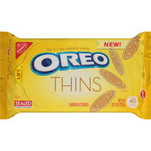 Nabisco Oreo Thins Golden Sandwich Cookies