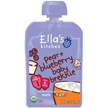 Ella's Kitchen Pear + Blueberry Baby Brekkie Stage 1 Baby Food
