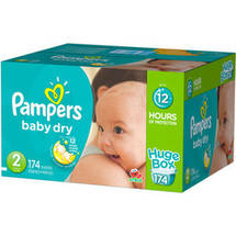 Pampers Baby Dry Diapers Huge Box Size 2