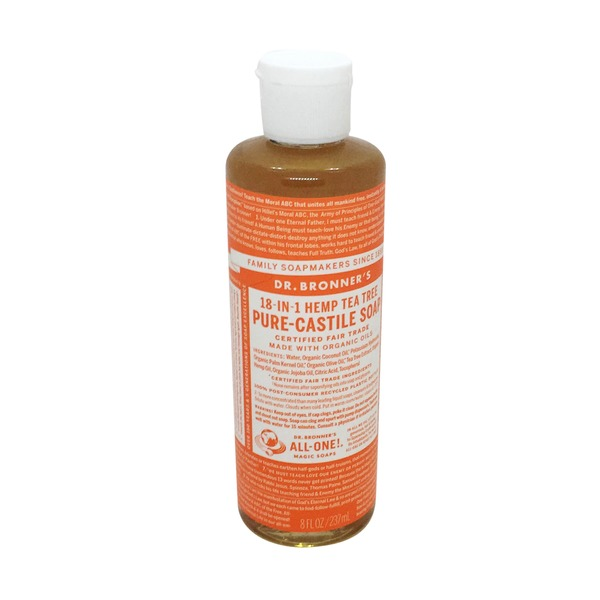 Dr. Bronner's Pure-Castile Soap 18-in-1 Hemp Tea Tree