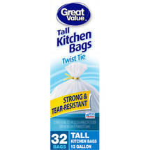 Great Value Tall Twist Tie Kitchen Bags