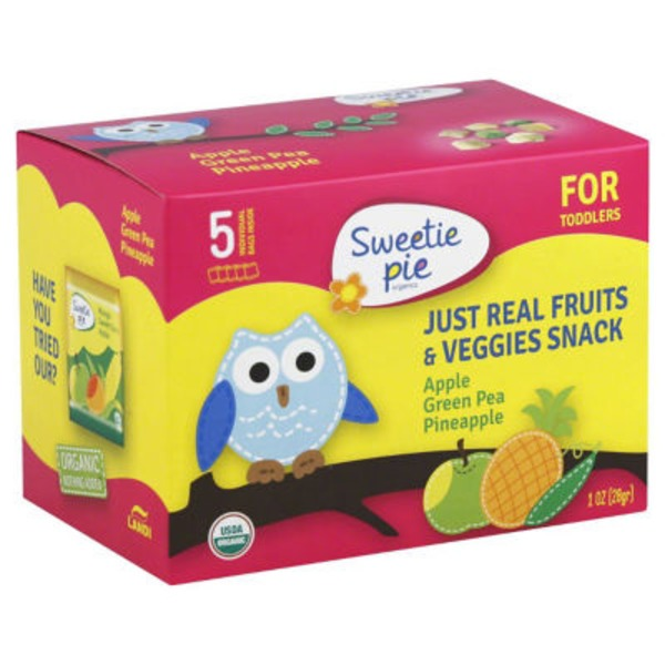 Sweetie Pie Fruits & Veggies Snack Apple, Green Pea, Pineapple