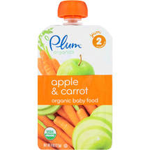 Plum Organics Apple & Carrot Stage 2 Organic Baby Food