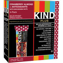 KIND PLUS Bars Cranberry Almond  Antioxidants with Macadamia Nuts