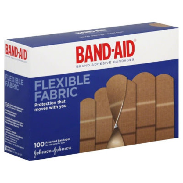 Band Aid® Brand Adhesive Bandages Flexible Fabric Assorted Premium