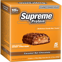 Supreme Protein Carb Conscious Caramel Nut Chocolate Bars