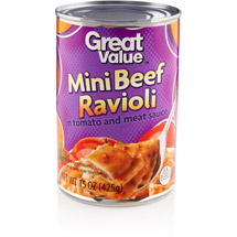 Great Value: Mini Beef Ravioli