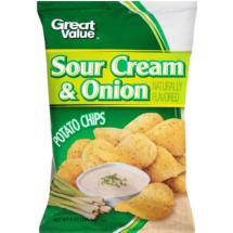 Great Value Sour Cream & Onion Potato Chips