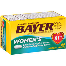 Bayer Women's Buffered Aspirin Pain Reliever Coated Caplets