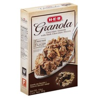 H-E-B Chocolate Granola With Dark Chocolate Pieces