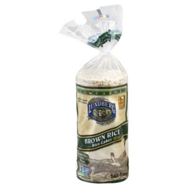 Lundberg Family Farms EF Brn Rice Rice Cake Salt Free Eco-Farmed Rice Cakes