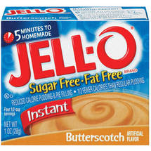 Jell-O Sugar Free & Fat Free Butterscotch Instant Pudding & Pie Filling