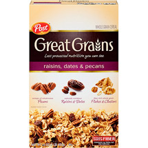 Post Selects Great Grains Raisins Dates & Pecans Cereal