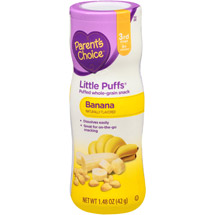Parent's Choice Little Puffs Banana Puffed Whole-Grain Snack