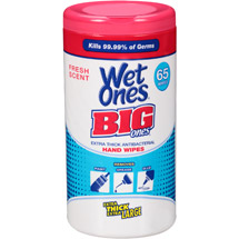Wet Ones Big Ones Extra Thick Fresh Scent Antibacterial Hand Wipes