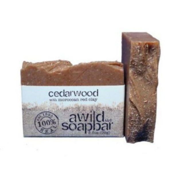 A Wild Soap Bar Cedarwood With Moroccan Red Clay Soap Bar