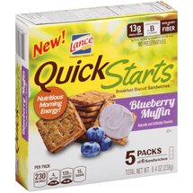 Lance Quick Starts Blueberry Muffin Breakfast Biscuit Sandwiches