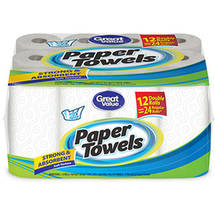 Great Value Paper Towel Double Rolls