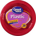 Great Value Premium Plastic 20 Oz Bowls Red
