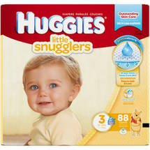 HUGGIES Little Snugglers Diapers Size 3 (Choose Diaper Count)