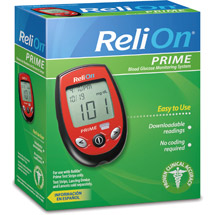 ReliOn Prime Blood Glucose Monitoring System Red