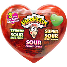 Warheads Sour Combo Candy Valentine's Day Variety Pack